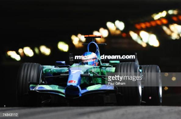 Jenson Button of Great Britain and Honda Racing drives during the Monaco Formula One Grand Prix at the Monte Carlo Circuit on May 27 2007 in Monte...