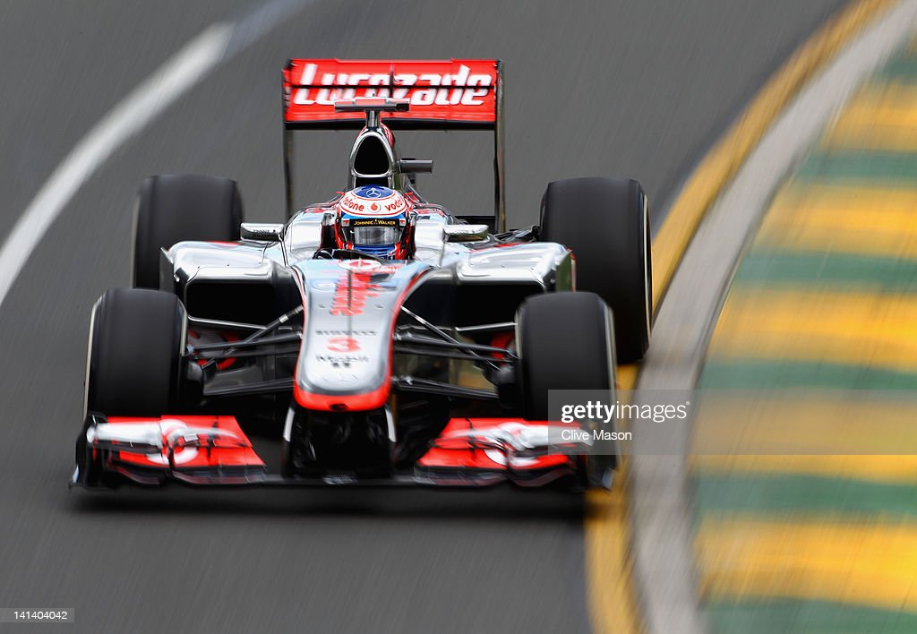 <a gi-track='captionPersonalityLinkClicked' href=/galleries/search?phrase=Jenson+Button&family=editorial&specificpeople=171505 ng-click='$event.stopPropagation()'>Jenson Button</a> of Great Britain and McLaren drives during practice for the Australian Formula One Grand Prix at the Albert Park circuit on March 16, 2012 in Melbourne, Australia.