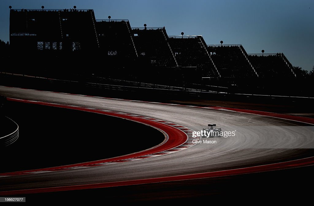 <a gi-track='captionPersonalityLinkClicked' href=/galleries/search?phrase=Jenson+Button&family=editorial&specificpeople=171505 ng-click='$event.stopPropagation()'>Jenson Button</a> of Great Britain and McLaren drives during practice for the United States Formula One Grand Prix at the Circuit of the Americas on November 16, 2012 in Austin, Texas.