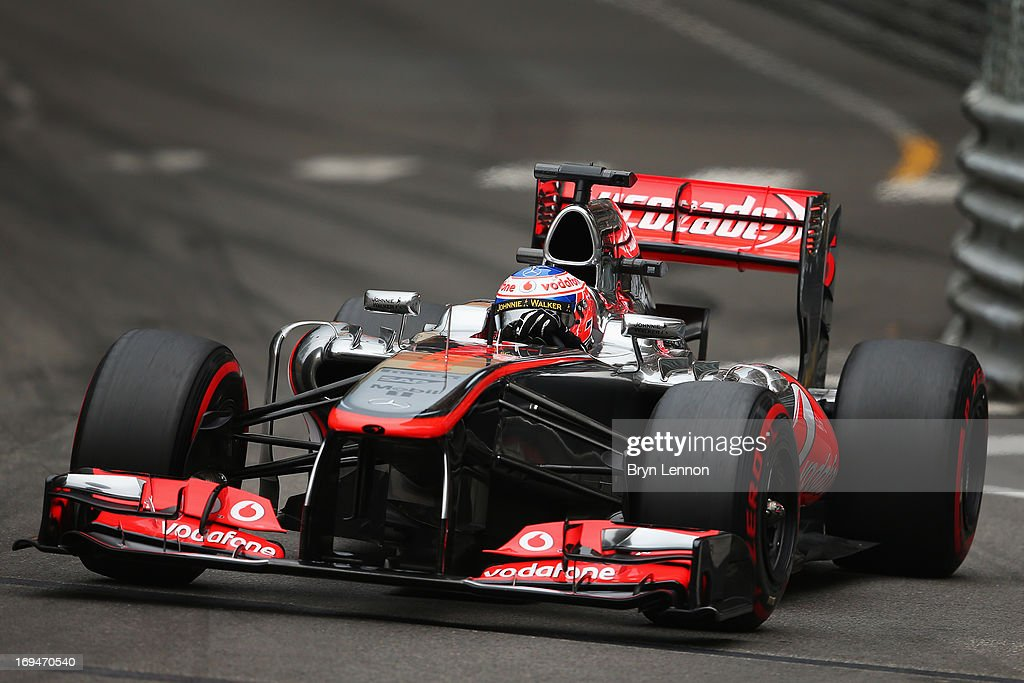 <a gi-track='captionPersonalityLinkClicked' href=/galleries/search?phrase=Jenson+Button&family=editorial&specificpeople=171505 ng-click='$event.stopPropagation()'>Jenson Button</a> of Great Britain and McLaren drives during qualifying for the Monaco Formula One Grand Prix at the Circuit de Monaco on May 25, 2013 in Monte-Carlo, Monaco.