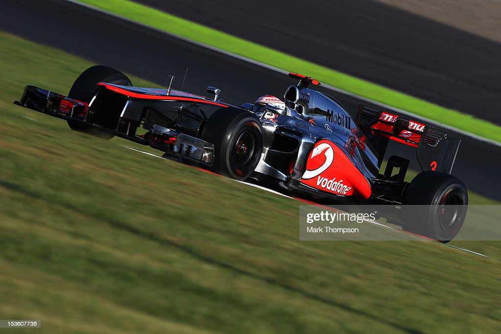 Jenson Button of Great Britain and McLaren drives during the Japanese Formula One Grand Prix at the Suzuka Circuit on October 7, 2012 in Suzuka, Japan.
