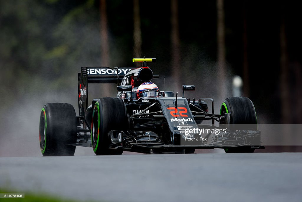 Jenson Button of Great Britain and McLaren during practice for the Formula One Grand Prix of Austria at Red Bull Ring on July 1, 2016 in Spielberg, Austria.