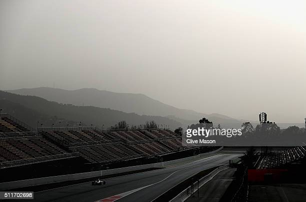Jenson Button of Great Britain and McLaren Honda drives during day one of F1 winter testing at Circuit de Catalunya on February 22 2016 in Montmelo...