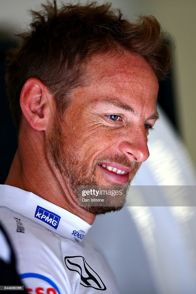 <a gi-track='captionPersonalityLinkClicked' href=/galleries/search?phrase=Jenson+Button&family=editorial&specificpeople=171505 ng-click='$event.stopPropagation()'>Jenson Button</a> of Great Britain and McLaren Honda in the garage during practice for the Formula One Grand Prix of Austria at Red Bull Ring on July 1, 2016 in Spielberg, Austria.