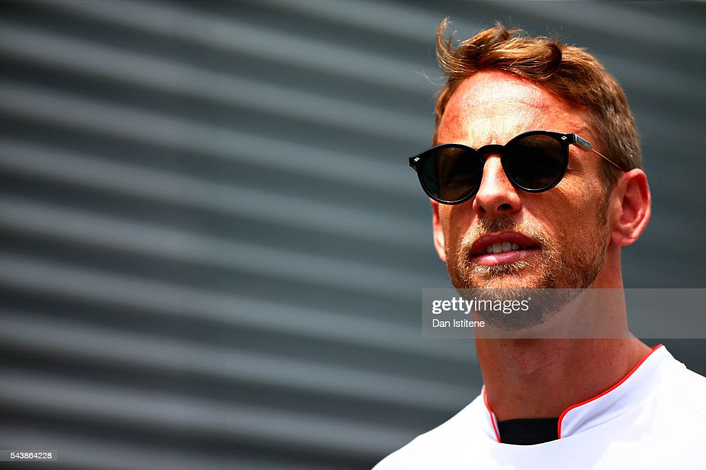 <a gi-track='captionPersonalityLinkClicked' href=/galleries/search?phrase=Jenson+Button&family=editorial&specificpeople=171505 ng-click='$event.stopPropagation()'>Jenson Button</a> of Great Britain and McLaren Honda in the Paddock during previews ahead of the Formula One Grand Prix of Austria at Red Bull Ring on June 30, 2016 in Spielberg, Austria.