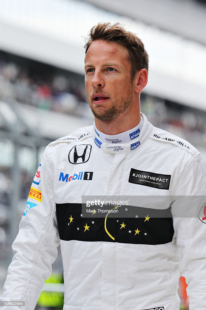 Jenson Button of Great Britain and McLaren Honda in the Pitlane during qualifying for the Formula One Grand Prix of Russia at Sochi Autodrom on April 30, 2016 in Sochi, Russia.