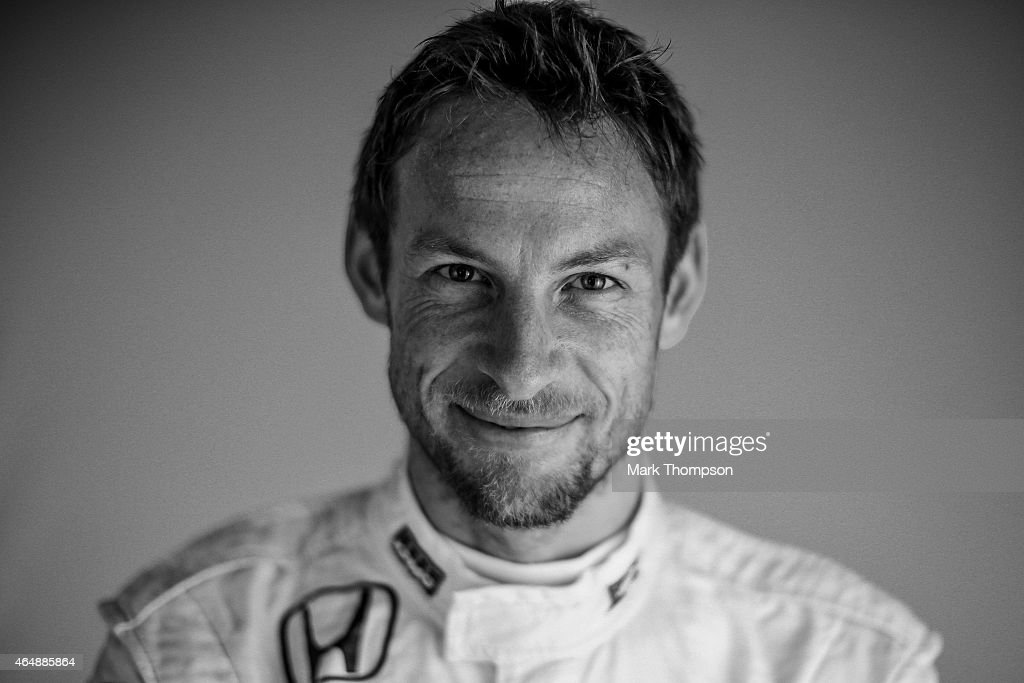 Jenson Button of Great Britain and McLaren Honda poses for a portrait during day three of Formula One Winter Testing at Circuit de Catalunya on February 21, 2015 in Montmelo, Spain.