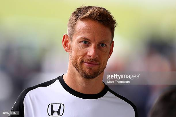 Jenson Button of Great Britain and McLaren Honda walks in the paddock during previews to the Formula One Grand Prix of Japan at Suzuka Circuit on...