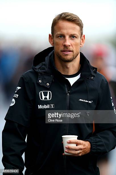 Jenson Button of Great Britain and McLaren Honda walks in the paddock during practice for the Formula One Grand Prix of Japan at Suzuka Circuit on...