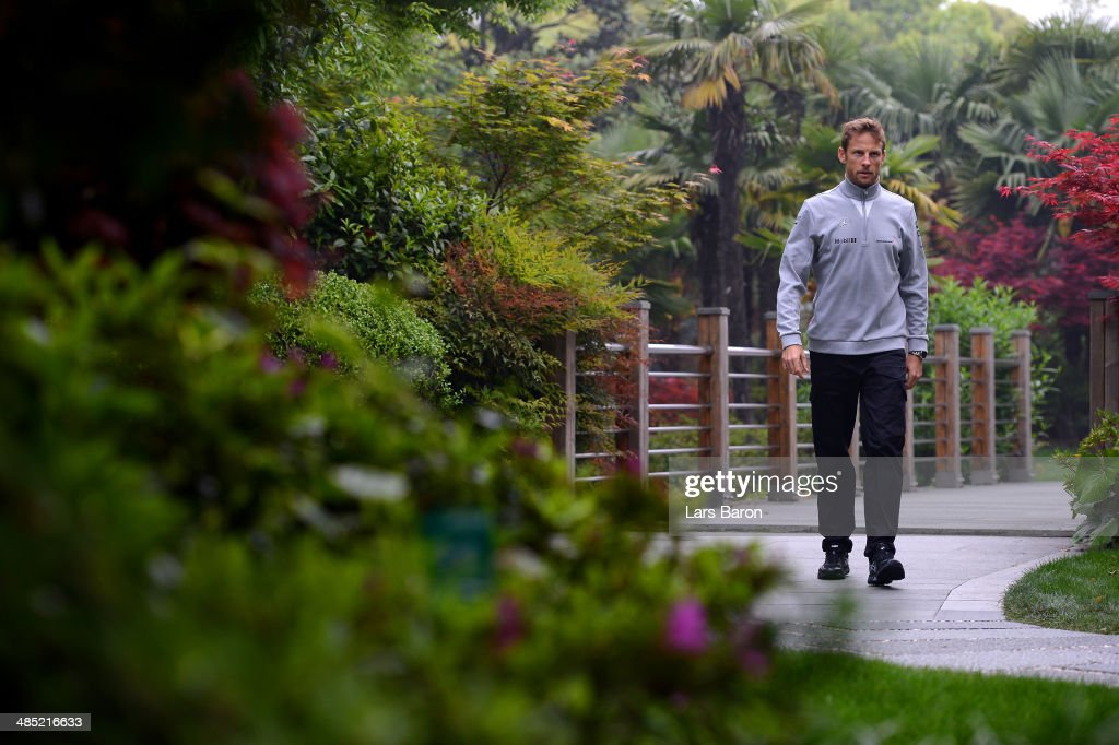Jenson Button of Great Britain and McLaren pictured ahead of the Chinese Formula One Grand Prix at the Shanghai International Circuit on April 17, 2014 in Shanghai, China.
