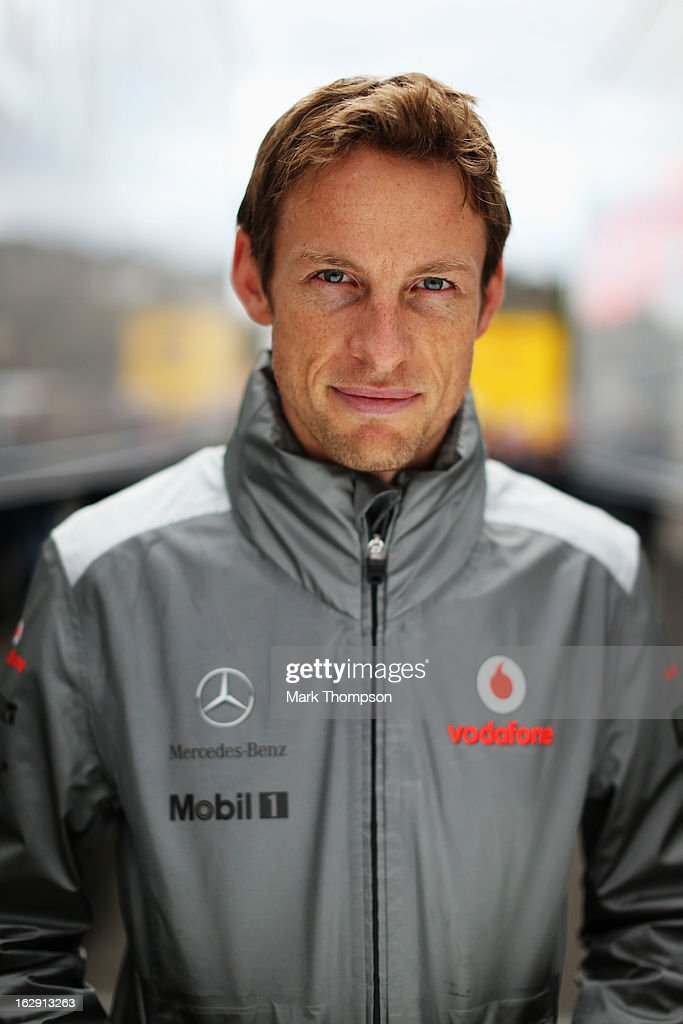 <a gi-track='captionPersonalityLinkClicked' href=/galleries/search?phrase=Jenson+Button&family=editorial&specificpeople=171505 ng-click='$event.stopPropagation()'>Jenson Button</a> of Great Britain and McLaren poses for a photograph during day two of Formula One winter testing at the Circuit de Catalunya on March 1, 2013 in Montmelo, Spain.