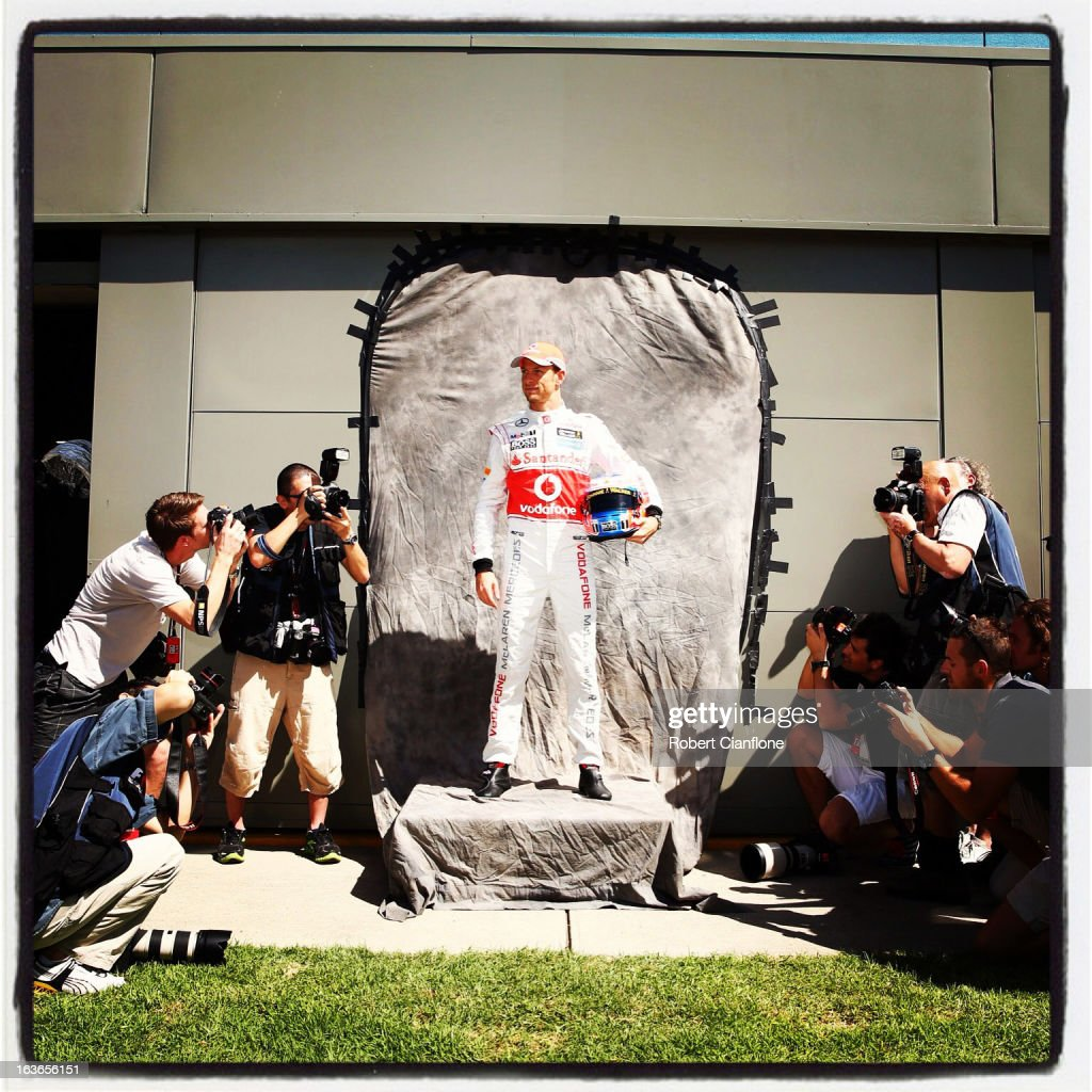 <a gi-track='captionPersonalityLinkClicked' href=/galleries/search?phrase=Jenson+Button&family=editorial&specificpeople=171505 ng-click='$event.stopPropagation()'>Jenson Button</a> of Great Britain and McLaren poses for photographers at the drivers official portrait session during previews to the Australian Formula One Grand Prix at the Albert Park Circuit on March 14, 2013 in Melbourne, Australia.