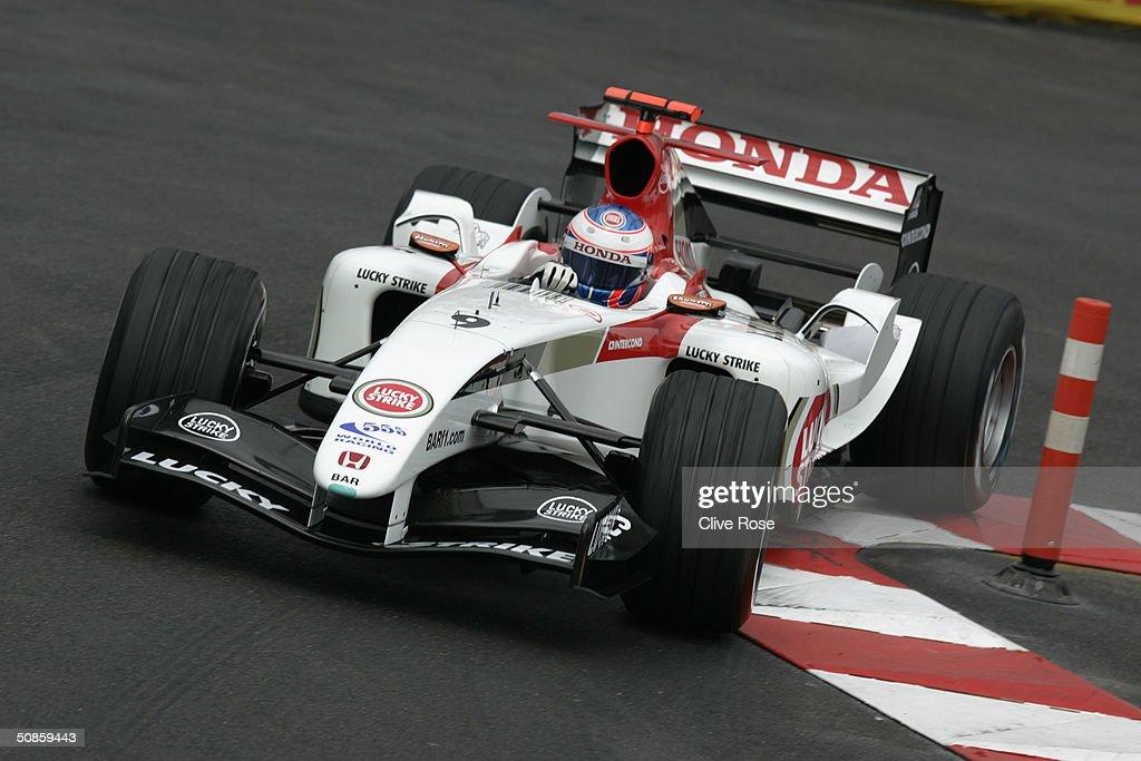 Jenson Button of Great Britian and BAR during practice for the Monaco F1 Grand Prix May 20, 2004 in Monte Carlo, Monaco.