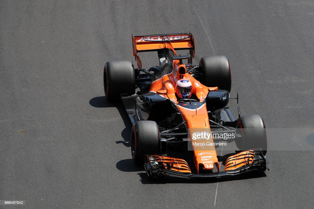 Jenson Button of McLaren Honda on track during the Monaco... : News Photo
