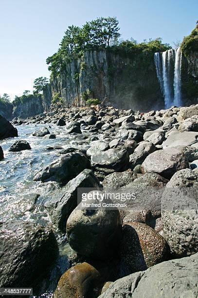 Jeongbang Falls.