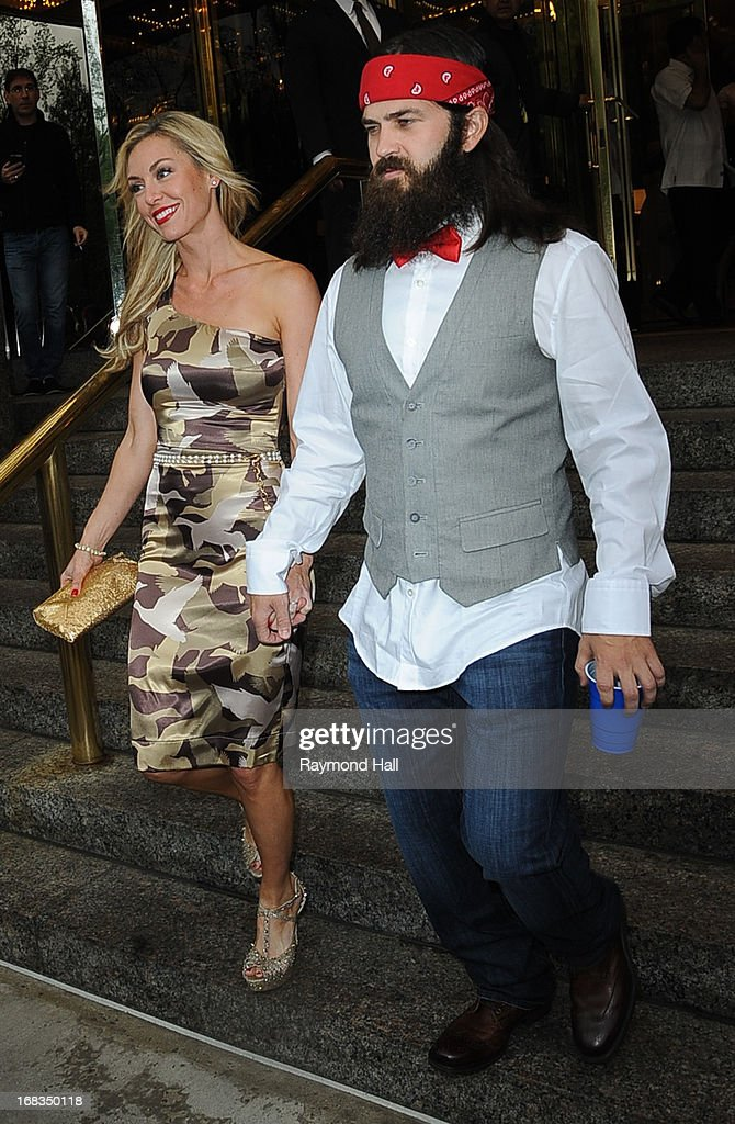 Jep Robertson and Jessica Robertson are seen outside the Trump Hotel on May 8, 2013 in New York City.