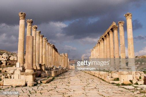 Jerash Temple : Stock Photo