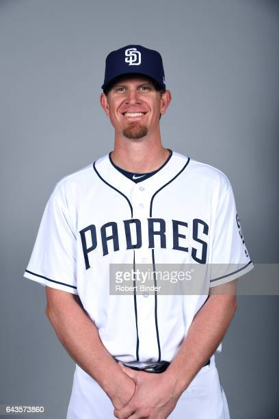 Jered Weaver of the San Diego Padres poses during Photo Day on Sunday February 19 2017 at Peoria Stadium in Peoria Arizona