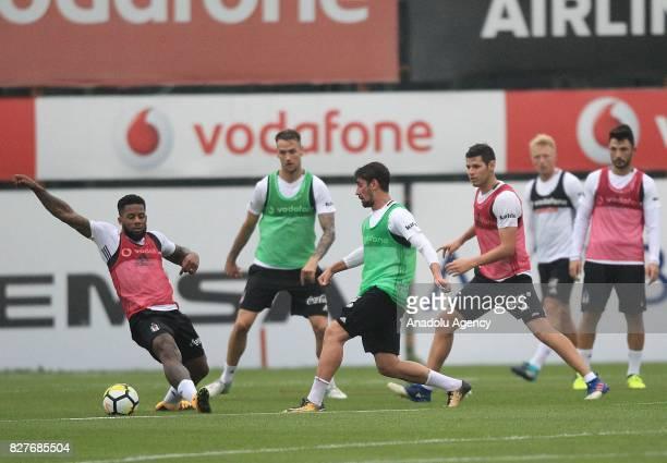 Jeremain Lens of Besiktas attends a training session ahead of the Turkish Spor Toto Super Lig new season match between Besiktas and Antalyaspor at...