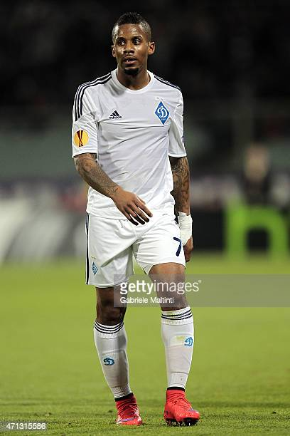 Jeremain Lens of FC Dynamo Kyiv in action during the UEFA Europa League Quarter Final match between ACF Fiorentina and FC Dynamo Kyiv on April 23...