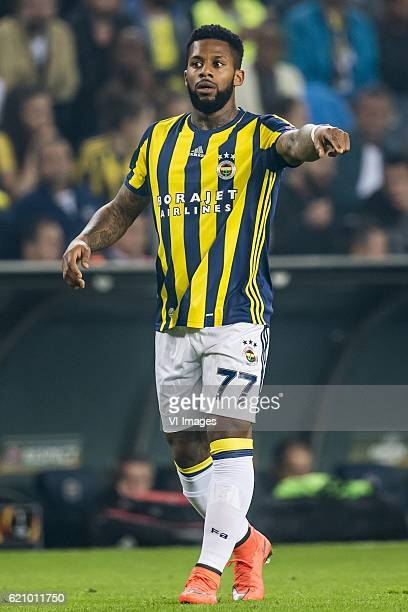Jeremain Lens of Fenerbahceuring the UEFA Europa Leaguegroup A match between Fenerbahce and Manchester United on November 3 2016 at the Sukru...