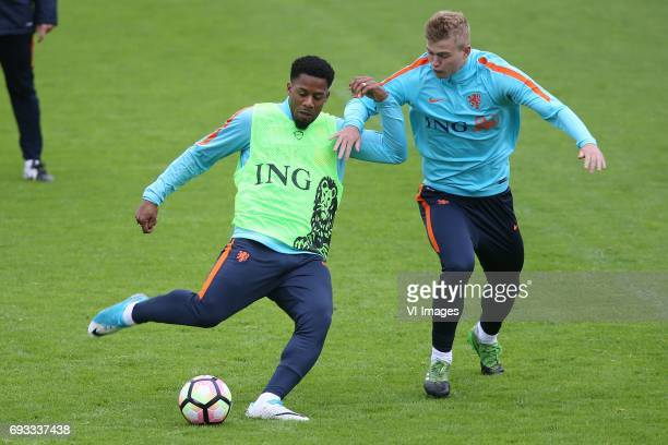 Jeremain Lens of Holland Matthijs de Ligt of Hollandduring a training session prior to the FIFA World Cup 2018 qualifying match between The...