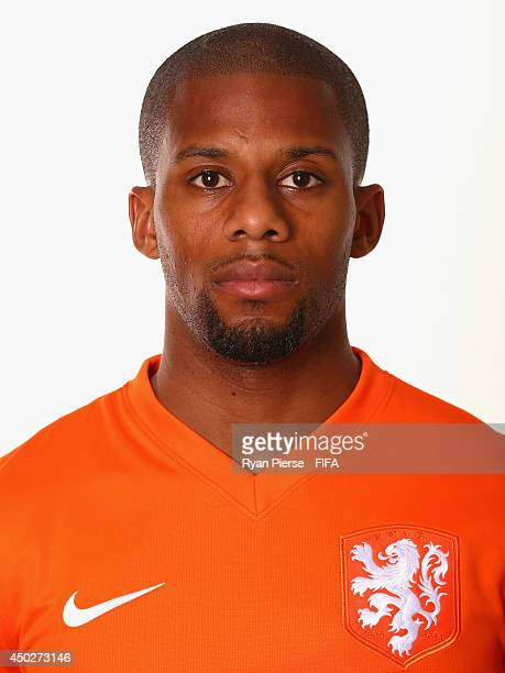 Jeremain Lens of Netherlands poses during the official FIFA World Cup 2014 portrait session on June 7 2014 in Rio de Janeiro Brazil