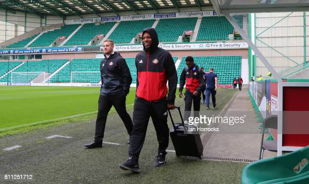 Jeremain Lens of Sunderland arrives ahead of a preseason friendly between Hibernian FC and Sunderland AFC at Easter Road on July 9 2017 in Edinburgh...