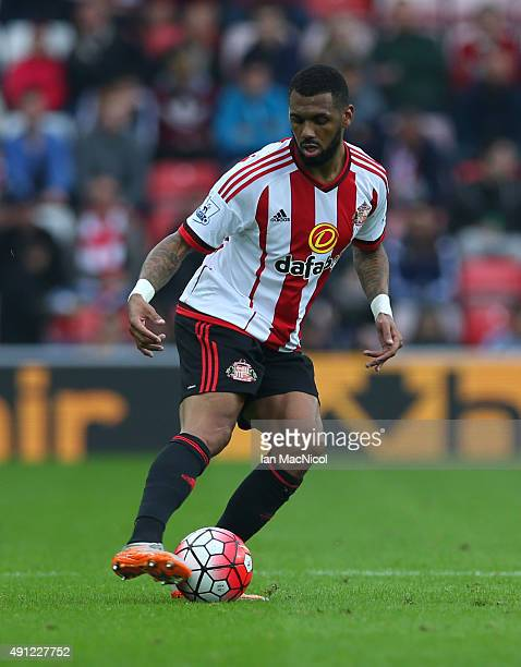 Jeremain Lens of Sunderland controls the ball during the Barclays Premier League match between Sunderland and West Ham United at The Stadium of Light...