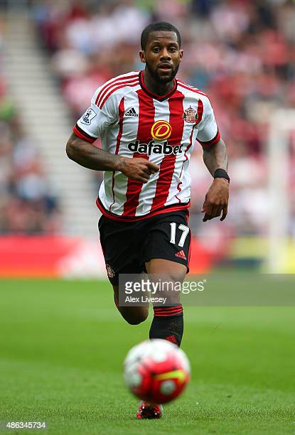 Jeremain Lens of Sunderland during the Barclays Premier League match between Sunderland and Swansea City at the Stadium of Light on August 22 2015 in...