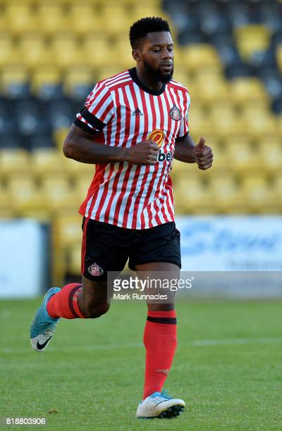 Jeremain Lens of Sunderland in action during the pre season friendly between Livingston and Sunderland at Almondvale Stadium on July 12 2017 in...