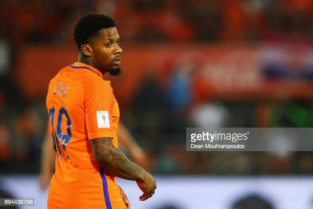 Jeremain Lens of the Netherlands in action during the FIFA 2018 World Cup Qualifier between the Netherlands and Luxembourg held at De Kuip or Stadion...
