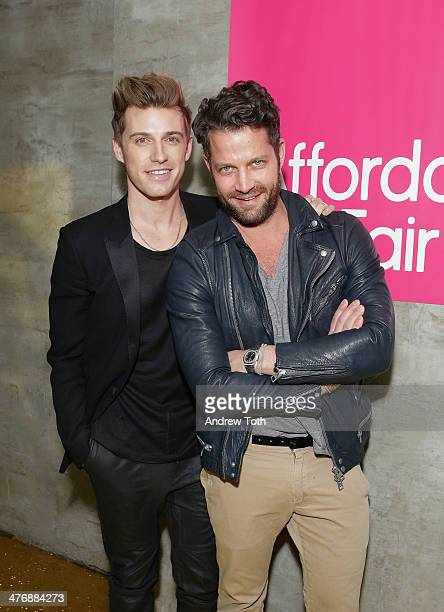 Jeremiah Brent and designer Nate Berkus attends the 15th Affordable Art Fair at Gilded Lily on March 5 2014 in New York City