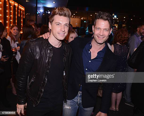Jeremiah Brent and Nate Berkus attend the after party for Bravo's screening of 'Odd Mom Out' at Casa Lever on June 3 2015 in New York City