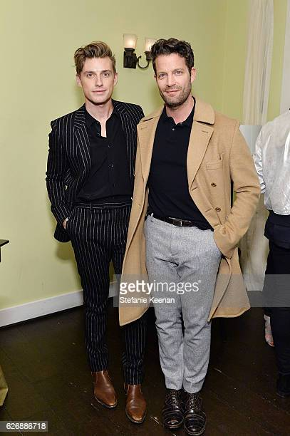 Jeremiah Brent and Nate Berkus attend The Zoe Report's Box of Style Winter Edition Dinner at Chateau Marmont on November 30 2016 in Los Angeles...