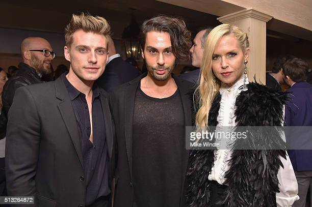 Jeremiah Brent Joey Maalouf and Fashion Designer Rachel Zoe attend the Grand Opening Of Au Fudge Presented By Amazon Family on March 1 2016 in West...