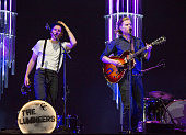 Jeremiah Caleb Fraites and Wesley Schultz of The Lumineers perform at Festival D'ete De Quebec on July 7 2016 in Quebec City Canada
