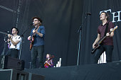 Jeremiah Fraites and Wesley Schultz of The Lumineers performs at Longitude Festival at Marlay Park on July 15 2016 in Dublin Ireland