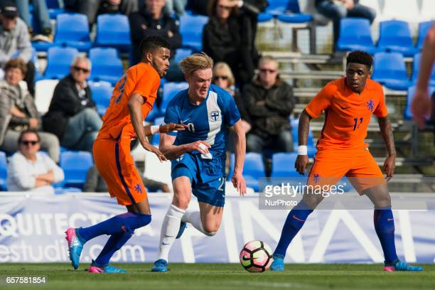 Jeremiah St Juste Fedrik Jensen during the friendly match of national teams U21 of The Netherlands vs Finland in Pinatar Arena Murcia SPAIN March...