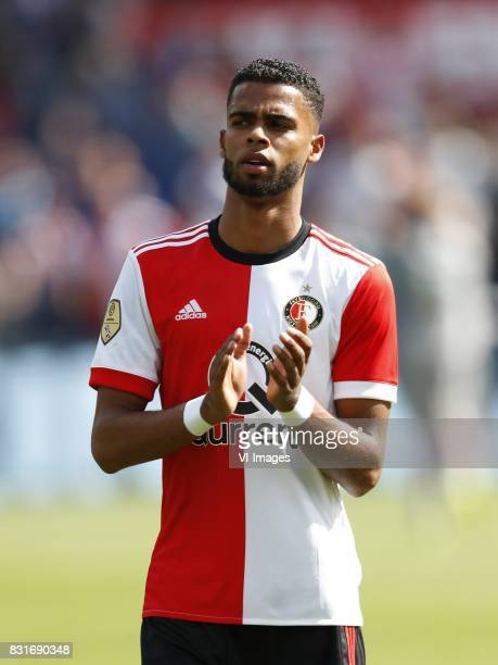 Jeremiah St Juste of Feyenoord during the Dutch Eredivisie match between Feyenoord Rotterdam and FC Twente at the Kuip on August 13 2017 in Rotterdam...