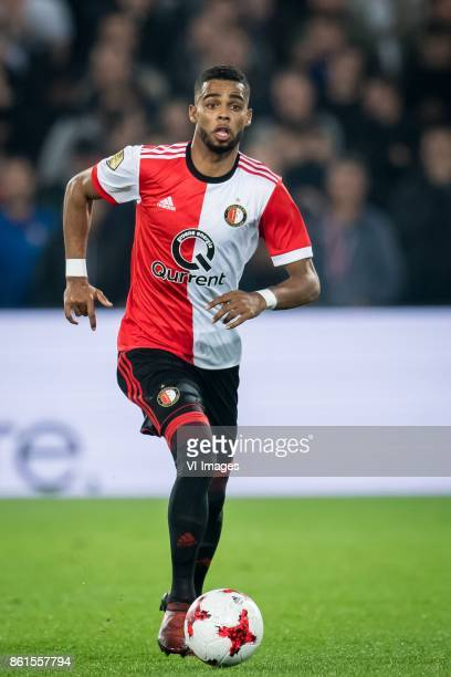 Jeremiah St Juste of Feyenoord during the Dutch Eredivisie match between Feyenoord Rotterdam and PEC Zwolle at the Kuip on October 14 2017 in...