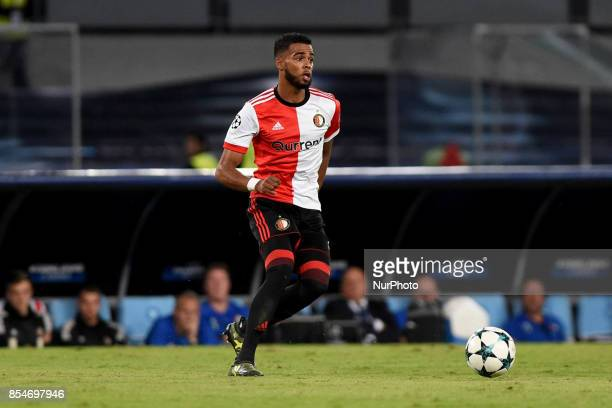 Jeremiah St Juste of Feyenoord during the UEFA Champions League Final match between SSC Napoli and Feyenoord at Stadio San Paolo Naples Italy on 27...