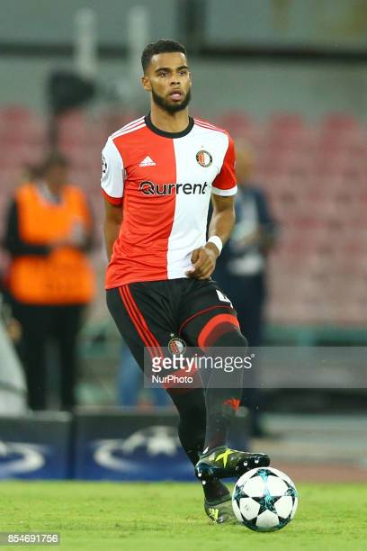 Jeremiah St Juste of Feyenoord during the UEFA Champion's League Group F football match Napoli vs Feyenoord Rotterdam on September 26 2017 at the San...