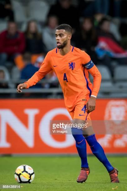 Jeremiah St Juste of Jong Oranje during the EURO U21 2017 qualifying match between Netherlands U21 and Latvia U21 at the Vijverberg stadium on...