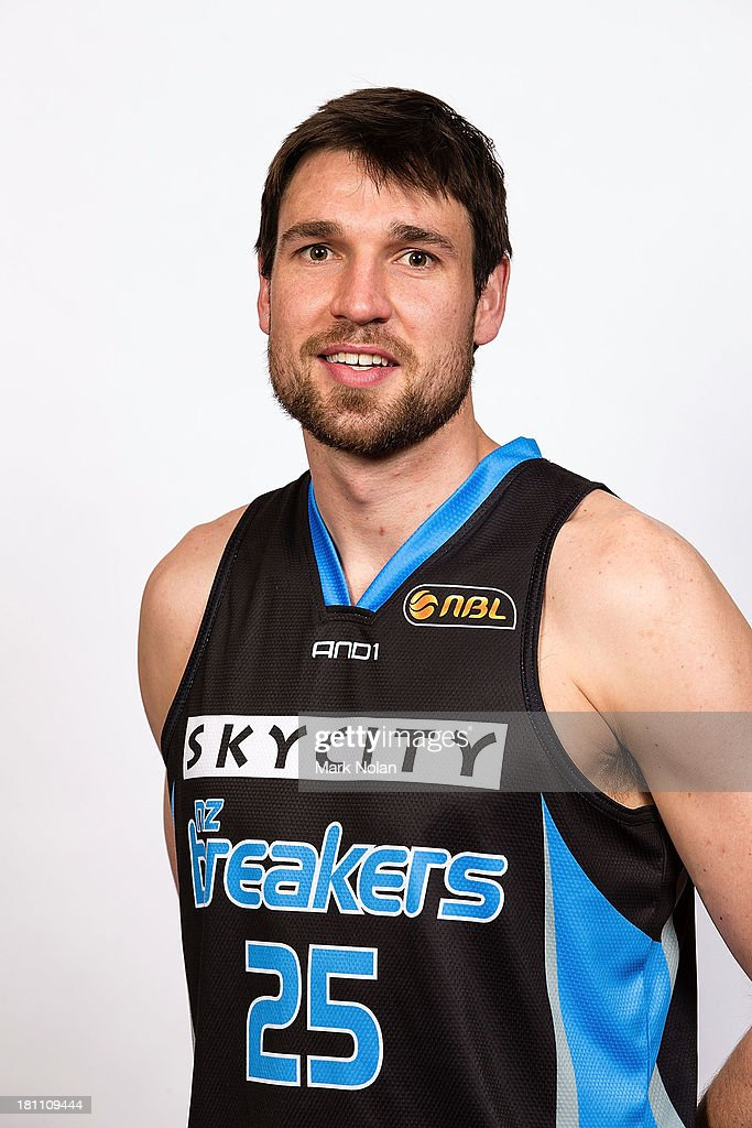 Jeremiah Trueman of the New Zealand Breakers poses for a photo during the official 2013/14 NBL Headshots Session at The Entertainment Quarter on September 19, 2013 in Sydney, Australia.