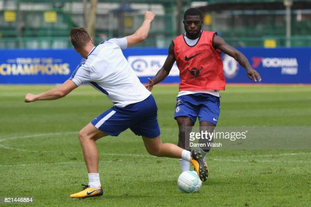 Jeremie Boga of Chelsea during a training session at Singapore American School on July 24 2017 in Singapore