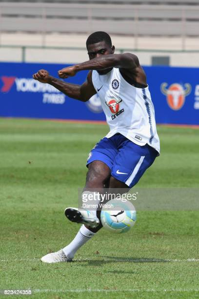 Jeremie Boga of Chelsea during a training session at the Singapore American School on July 27 2017 in Singapore