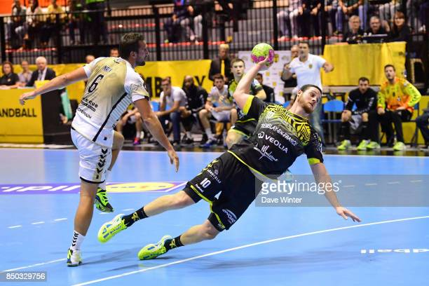 Jeremie Courtois of Tremblay and Kornel Nagy of Dunkerque during Lidl StarLigue match between Tremblay and Dunkerque on September 20 2017 in Tremblay...