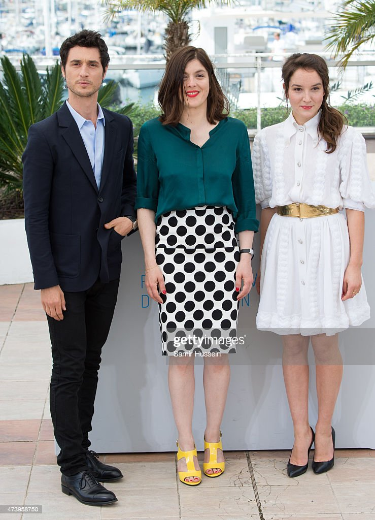 Jeremie Elkaim Anais Demoustier and Valerie Donzelli attend the 'Marguerite Julien' Photocall during the 68th annual Cannes Film Festival on May 19...
