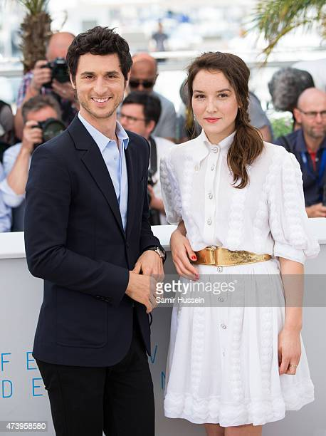 Jeremie Elkaim and Anais Demoustier attendsthe 'Marguerite Julien' Photocall during the 68th annual Cannes Film Festival on May 19 2015 in Cannes...